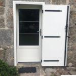 Porte mixte bois / aluminium