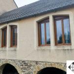 Fenêtres PVC – Coloris chêne doré