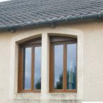 Fenêtre PVC – Coloris chêne doré