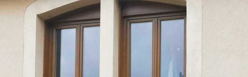 Fenêtre PVC - Coloris chêne doré