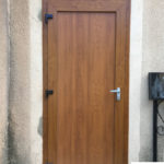 Porte PVC imitation bois