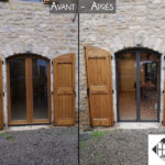 Avant / Après : Porte-fenêtre cintrée en aluminium