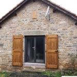 Porte-fenêtre aluminium – Vitrage granité