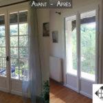 Remplacement ancienne porte-fenêtre bois par PVC