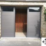 Porte de garage battante 3 vantaux en aluminium